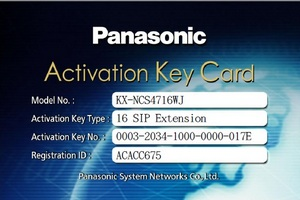 Activation Key Card